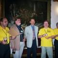 Towarzystwo czterech panów z poprzedniego zdjęcia uzupełnia prezes EBCU Terry Lock
