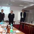 Obrady otwierają od prawej: Artur Wojciechowski WMARR, Bogdan Kępka - prowadzący, Andrzej Olkowski SRBP